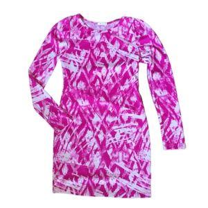 Everly Hot Pink Geometric Bodycon Mini Dress